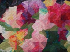 Colorwash quilt with curves by Marijke Snijders-Witte