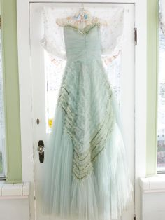 Ruffle Mint Green Prom Dress.. This would be my dream prom dress! Wowza!