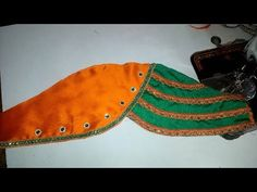 easy bridal sleeves designe cutting and stitching at home - YouTube