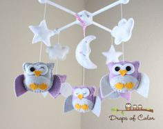 Baby Crib Mobile  Owl Baby Mobile  Nursery Owl by dropsofcolorshop, $90.00