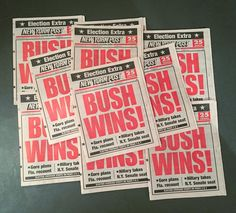 """Arthouse Project No. 22: Unearthed a strange box of memorable newspapers while digging through the closet. Who would've thought I'd ever be #nostalgic for """"Bush Wins"""". This is obviously what deja vu feels like in the Twilight Zone... On a separate but not unrelated note I took a break from the arthouse project after the 2016 election because I've been so deeply troubled stressed and frightened by current events in America that my creative voice felt obscured and unimportant. I've also felt…"""