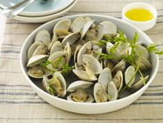 Grilled Little Neck Clams Basted with Garlic Butter Recipe