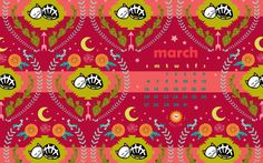 Happy March! Free Skelly Chic download for your desktop & phone on my blog! www.skellychic.com