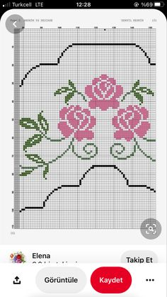 Cross Stitch Borders, Easter Crafts, Diy And Crafts, Bullet Journal, Cross Stitch Embroidery, Tailgate Desserts, Craft, Sewing Crafts, Flowers