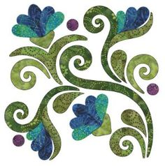 Radiant - Block A - Summer - Applique By Patricia E. Ritter Laser-cut fabric applique elements backed with Steam-A-Seam 2 Applique Quilt Patterns, Hand Applique, Flower Applique, Embroidery Applique, Felt Patterns, Wool Applique, Embroidery Designs, Embroidery Flowers Pattern, Applique Designs