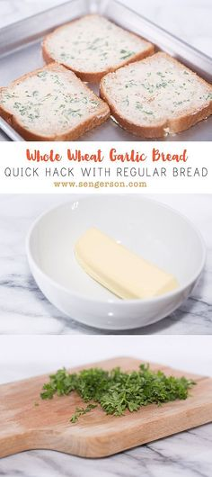 Poor Man's Homemade Garlic Bread Quick and easy garlic bread from regular bread recipe hack with ingredients you probably already have in your pantry! Garlic Butter For Bread, Coconut Bread Recipe, Make Garlic Bread, Homemade Garlic Bread, Garlic Bread Recipe With Regular Bread, Homemade Recipe, Homemade Breads, Recipes With Bread Slices, Bread Recipes