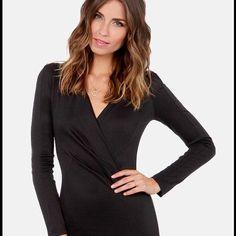 1694e658a2 Lulu S Black Bodycon Dress Size Small Long Sleeve Mini Dress