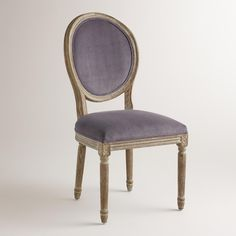 Boasting a curved, shapely silhouette, our velvet round-back side chairs are a nod to traditional charm. >> #WorldMarket French Romance