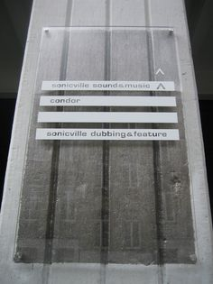 Glass panel with texture background #wayfinding #signage