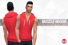 Simsational designs: Muscle Hoodie • Sims 4 Downloads