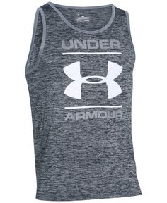 51839c22674558 Under Armour Men s Tech Logo Tank Top Men - T-Shirts - Macy s