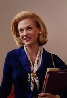Let's just talk about Betty Draper's pearl-adorned neck scarf in season 7 of Mad Men!