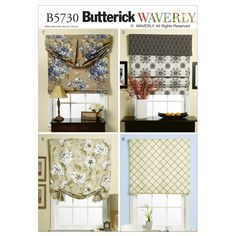 Amazon.com: Butterick Patterns B5730 Window Shade and Valance, One Size Only