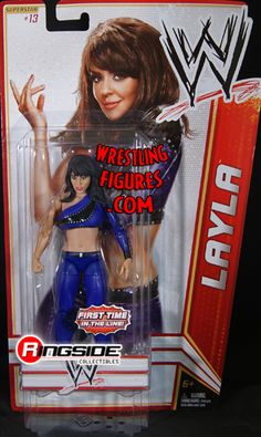 RINGSIDE COLLECTIBLES WWE Toys, Wrestling Action Figures, Jakks Pacific, Classic Superstars Action F: LAYLAWWE SERIES 15WWE Toy Wrestling Action Figure