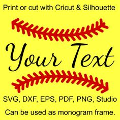 Softball Stitches SVG file for Cricut and Silhouette