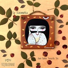 """Ręcznie malowane terakoty.  Unikalne Ściana dekoracyjna """"La Scaramantica"""""""