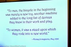 Biker+Women+Sayings | BikePortland's coverage of the 2012 National Bike Summit is ...