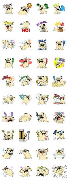 Pug-tan stamp
