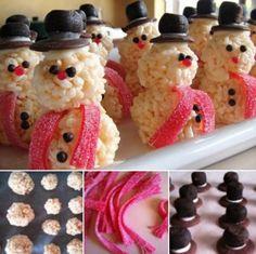 Snowmen Rice Krispies