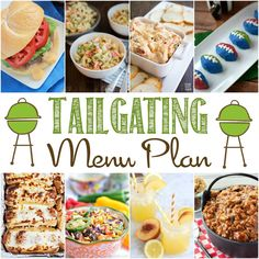 September Meal Plan – Tailgating Recipes !