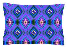 Dark Diamond by Anne LaBrie Blue Cotton Pillow Sham