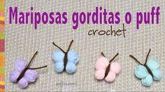 ¡Las mariposas que usamos para decorar los gorros con trenzas gorditas tejido a crochet! Las mariposas se tejen en minutos: son sol...