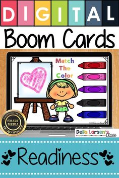 Make the adjustment to kindergarten easier with Boom Cards. Fun ideas for Preschool and kindergarten readiness. Help get your student ready for kindergarten and back to school with a fun game on  an ipad or a chromebook. Be ready for the kindergarten curriculum this fall. #readyforkindergarten #kindergarten #backtoschool #readiness Literacy Stations, Literacy Skills, Literacy Centers, Interactive Learning, Fun Learning, Kindergarten Curriculum, Upper And Lowercase Letters, Teaching The Alphabet, Digital Literacy