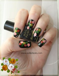 love flowers at bottom of page, hand painted Castle Painting, Boat Painting, Finger Painting, Canal Boat Art, Traditional Roses, Bridesmaids Nails, Rose Nails, Nail Polish Trends, Natural Nails