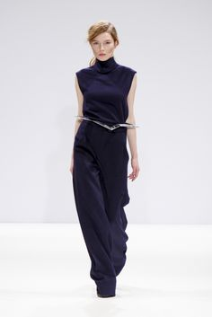 #YifangWan AW13 at #LFW - dishevelled ponytail hairstyle created by #BillWatson and the #ToniAndGuy Session Team