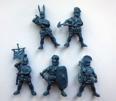 Romans-54-mm-5-Figures-SOFT-plastic-Tehnolog-Russian-Toy-Soldiers-1-32