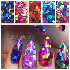 Holographic Glitter Mix Dots | 1 TSP  | Gel Nail Art & Acrylic | Nail Design