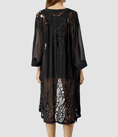 ALLSAINTS Womens Iree Kimono (Black)