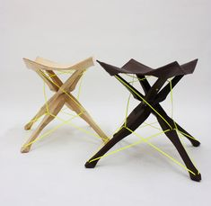 # stool color accent yellow wood