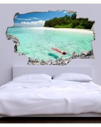 CABECERO CAMA 3D - PLAYA - CAB.116 Floor Wallpaper, Hidden Spaces, Headboards For Beds, Outdoor Furniture, Outdoor Decor, Decoration, Bedroom Decor, Flooring, Beach