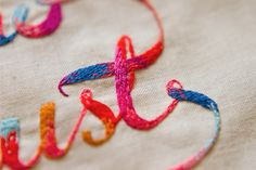"""Stitched Letters"" 