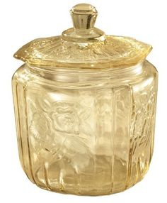 Antique Yellow Glass Biscuit Jar by Miles Kimball by Miles Kimball. $19.99. You'll love the soft shimmer of antique yellow glass, sparkling with a beautifully aged charm.