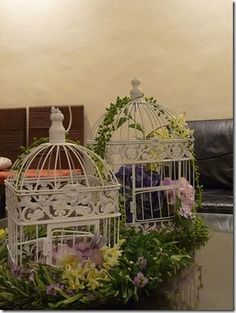 Birdcage Flower Arrangement Tutorial