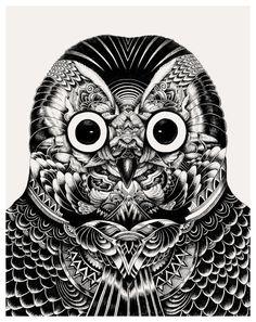 Owl heads - Iain Macarthur