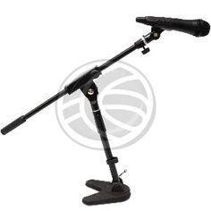 """Brazo de extensión para micrófono. Permite ser acoplado a un soporte vertical de pie. Longitud del brazo configurable de 50cm a 87cm. Mango en un extremo y rótula central para ajustar inclinación. La rótula permite ajustar el punto medio del brazo. Rosca de 3/8"""" para fijar al soporte de pie."""