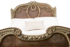Fine 19th Century French Provincial Decorated Louis XV Queen Size Bed