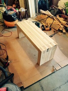 DIY bench out of just 2x4s!! #diybench