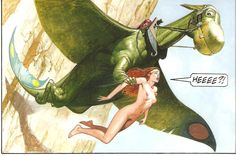 Jewel in the Skull — Art by Don Lawrence Character Illustration, Graphic Illustration, Science Fiction Art, Vintage Artwork, Fantasy Landscape, Pulp Art, Comic Book Artists, Vintage Comics, Fantastic Art