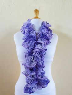 Ruffled lace scarf   LAVENDER  neckwarmer by OriginalDesignsByAR, $24.95