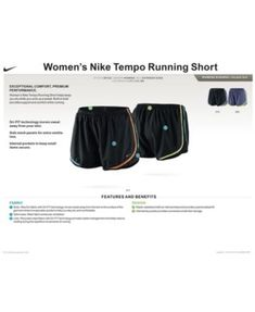 Nike Plus Size Dri-fit Tempo Track Shorts - Purple 3X