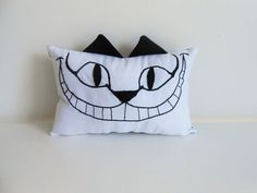 Hey, I found this really awesome Etsy listing at https://www.etsy.com/listing/226577770/cheshire-cat-embroidered-black-and-white