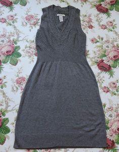 Laundry Women Gray Knit Sleeveless Sweater Dress Size S #Laundry #SweaterDress