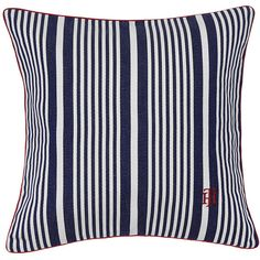 Tommy Hilfiger Ocean Striped Cushion ($61) ❤ liked on Polyvore featuring home, home decor, throw pillows, blue, striped throw pillows, stripe throw pillows, tommy hilfiger, ocean home decor and textured throw pillows