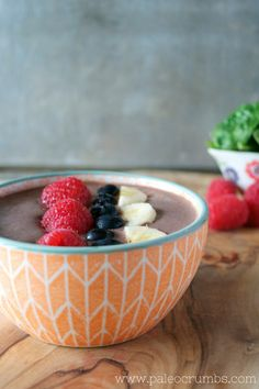 Guest Post by Paleo Crumbs: Raspberry Acai Smoothie Bowl (Dairy free)