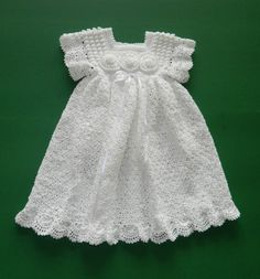 Crochet Christening Blessing Gown Loop Pattern With Decorated