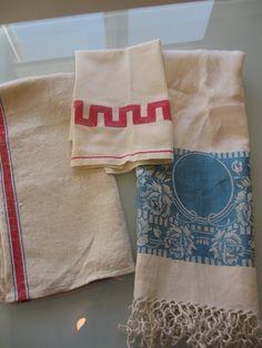 Lot Vintage Tea Towels by MemphisNanney on Etsy, $12.75